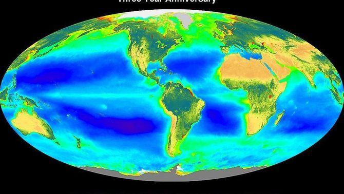 La NASA mostra en un vídeo vint anys de l'evolució de la vida vegetal a la Terra