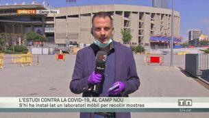 L'estudi contra la Covid-19, al Camp Nou