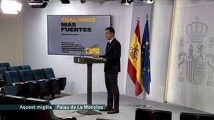 Sánchez tanca l'alarma demanant unitat en la reconstrucció