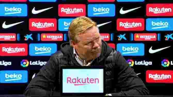 """Koeman: """"Sóc l'entrenador i, per tant, el responsable"""""""