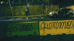 Pintades feministes a Corbera