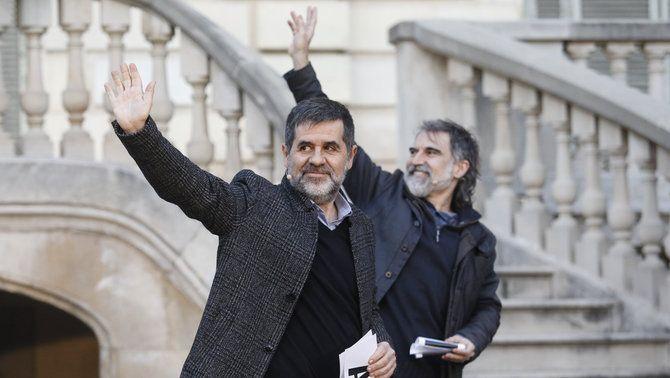 Sànchez i Cuixart, en un acte a favor de l'amnistia el mes de febrer