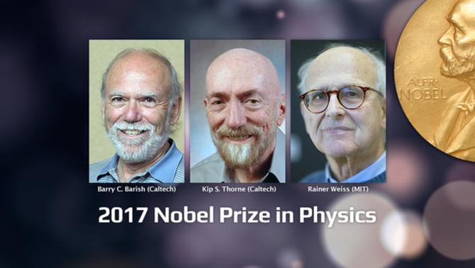 Els tres guanyadors del Nobel de Física 2017
