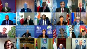 Tercera reunió del Consell de Seguretat de l'ONU, per videoconferència, sobre el conflicte entre israelians i palestins (Reuters)