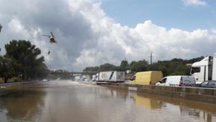 Una tromba d'aigua deixa 240 mm en tres hores al sud de Nimes, a França