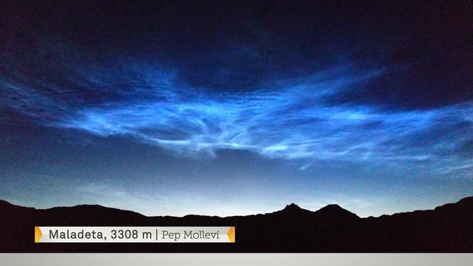 Un núvol molt, molt rar a les nostres latituds