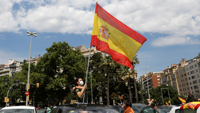 Manifestació de Vox a Barcelona (Reuters/ Nacho Doce)