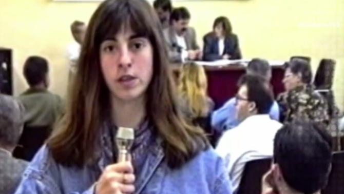 Helena Jubany treballant com a periodista
