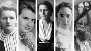 Marie Curie, Rosalind Franklin, Lisa Meitner, Henrieta Sawn Leavitt i Ada Lovelace