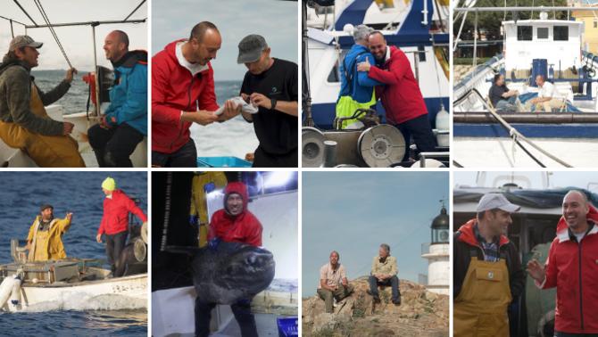 """Quim Casellas amb alguns dels protagonistes del programa """"La mar de bé"""""""