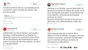 Crítiques a la xarxa contra la detenció d'Hervé Falciani