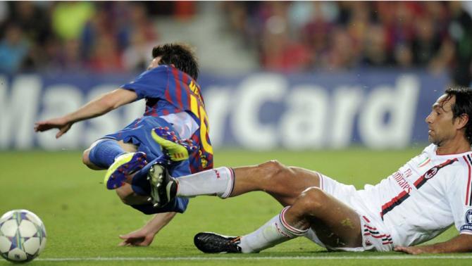 Nesta no va poder aturar Messi en la Champions del 2012