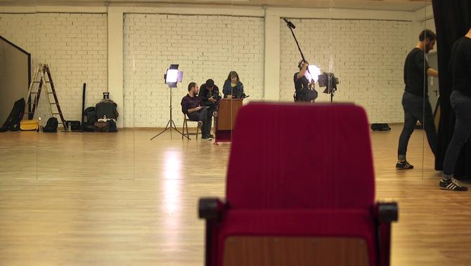 """Un moment del rodatge del programa """"Arts i oficis"""""""