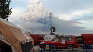 El pirocúmul de l'incendi que afecta la Conca de Barberà i l'Anoia (Protecció Civil)