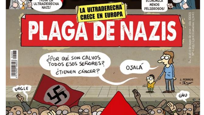 """Detall de la portada d'""""El Jueves"""" sobre l'auge dels neonazis"""