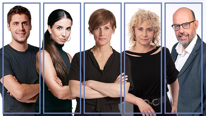 Roger Escapa, Laura Rosel, Raquel Sans, Mònica Terribas i Jordi Basté presentaran La Marató