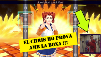 "Imatge de:Chris Vilchez fa esport amb ""Fitness Boxing 2: Rhythm and Exercise"""