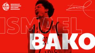 Muntatge d'Ismael Bako com a nou jugador del Manresa (@BàsquetManresa)