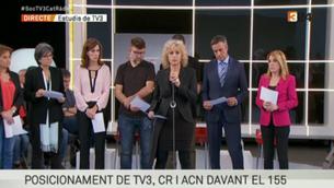 """""""L'amenaça d'intervenció suposa un atac a la ciutadania"""". Manifest de Catalunya Ràdio, TV3 i l'ACN"""