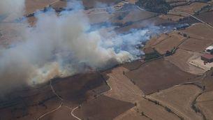 110 hectàrees cremades per un incendi agrícola a Santa Coloma de Queralt