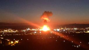 L'explosió a la petroquímica de Tarragona, en imatges